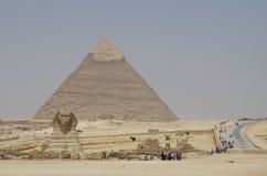 Vale de Giza - a esfinge Fotos de Stock Royalty Free