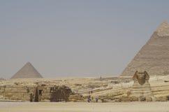 Vale de Giza - esfinge Foto de Stock