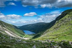 Vale de Glendalough L'Irlande, Wicklow Photographie stock
