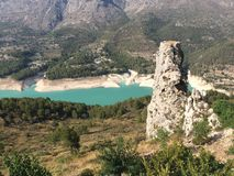 Vale de Guadalest na província de Valência na Espanha Imagens de Stock