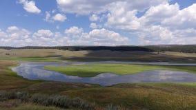 Vale de Hayden, parque nacional de yellowstone Imagem de Stock