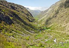 Vale de Heas no francês Hautes Pyrenees Foto de Stock Royalty Free
