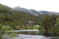 Vale de Husedalen no parque nacional de Hardangervidda, Noruega Fotografia de Stock