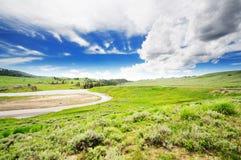 Vale de Lamar no parque nacional de yellowstone Foto de Stock Royalty Free