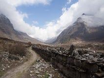 Vale de Langtang, Nepal Foto de Stock Royalty Free