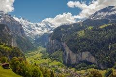 Vale de Lauterbrunnen em Switzerland Fotografia de Stock Royalty Free