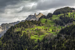Vale de Lauterbrunnen em Switzerland Foto de Stock