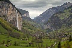 Vale de Lauterbrunnen em Switzerland Fotos de Stock Royalty Free