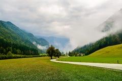 Vale de Logar - Logarska Dolina, Eslovênia Imagens de Stock Royalty Free