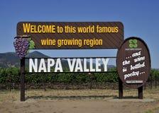 Vale de Nappa Foto de Stock Royalty Free