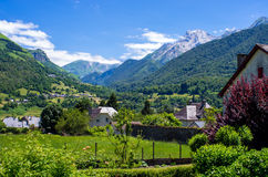 Vale de Ossau, Pyrenees, França Imagem de Stock Royalty Free