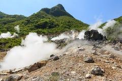 Vale de Owakudani Imagem de Stock Royalty Free