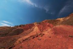Vale de paisagens de Marte fotos de stock royalty free