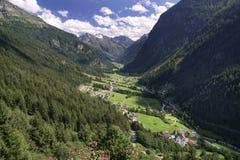 Vale de Pitztal em Tirol Foto de Stock