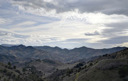 Vale de Porrera no condado de Priorat (Catalonia, Espanha) Foto de Stock Royalty Free