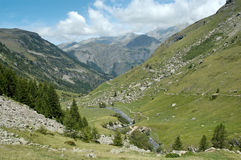 Vale de Prapic (alpes) Fotografia de Stock Royalty Free