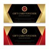 Vale de regalo, certificado o plantilla de la tarjeta del descuento para el promo co ilustración del vector