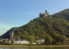 Vale de Rhine, ligado Fotos de Stock Royalty Free