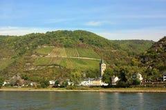 Vale de Rhine, ligado Fotos de Stock