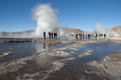 Vale de Tatio - o Chile Foto de Stock Royalty Free