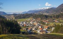 Vale de Tuhinj, Eslovênia Fotos de Stock Royalty Free