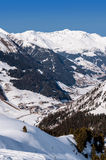 Vale de Tuxtal em cumes austríacos Fotos de Stock Royalty Free