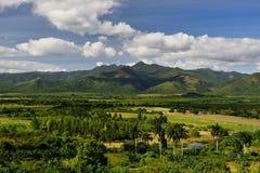 Vale de Valle de los Ingenios perto da cidade de Trinidad em Cuba Foto de Stock Royalty Free
