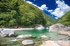 Vale de Verzasca em Suíça Fotos de Stock Royalty Free