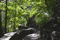 Vale de Watkins, parque estadual de NY Foto de Stock Royalty Free