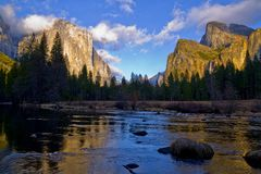 Vale de Yosemite fotos de stock royalty free