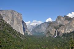 Vale de Yosemite na opinião do túnel Foto de Stock