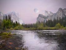 Vale de Yosemite na opinião do túnel Fotos de Stock