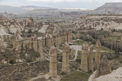 Vale do amor no parque nacional de Goreme Cappadocia Foto de Stock Royalty Free