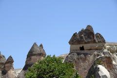 Vale do amor no parque nacional de Goreme Cappadocia, Turquia Fotos de Stock Royalty Free