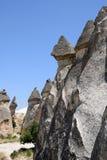 Vale do amor no parque nacional de Goreme Cappadocia, Turquia Fotografia de Stock