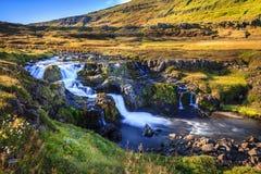 Vale do fiorde de Seydisfjordur Fotos de Stock Royalty Free