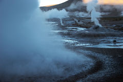Vale do geyser do EL Tatio, o Chile Foto de Stock Royalty Free