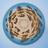 At Vale do Lobo the world is a beach. From a tiny world perspective Stock Photography