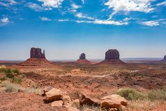 Vale do monumento Fotos de Stock Royalty Free