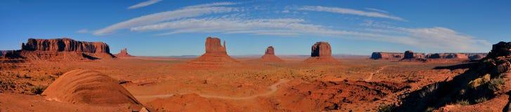 Vale do monumento do panorama Fotos de Stock Royalty Free