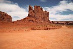 Vale do monumento, garganta do deserto em Utá, EUA Imagens de Stock Royalty Free