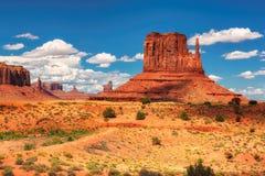 Vale do monumento, garganta do deserto no Arizona Fotos de Stock