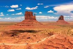 Vale do monumento, garganta no Arizona Foto de Stock