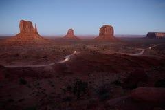 Vale do monumento no crepúsculo Foto de Stock Royalty Free