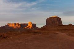 Vale do monumento no nascer do sol Foto de Stock Royalty Free