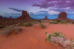 Vale do monumento, o Arizona, cenário Foto de Stock