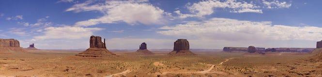 Vale do monumento panorâmico Fotos de Stock Royalty Free