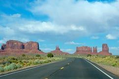 Vale do monumento Parque tribal do Navajo, EUA fotos de stock royalty free