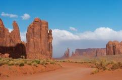 Vale do monumento Parque tribal do Navajo, EUA fotos de stock