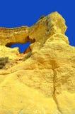 Vale Do Olival Beach spectacular cliffs Stock Photos